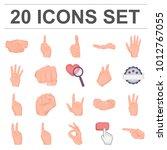 hand gesture cartoon icons in... | Shutterstock . vector #1012767055