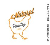 bbq natural poultry 100  vector ...   Shutterstock .eps vector #1012767961