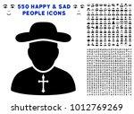 priest icon with 550 bonus sad... | Shutterstock .eps vector #1012769269