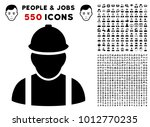 builder pictograph with 550... | Shutterstock .eps vector #1012770235