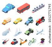 different types of transport... | Shutterstock . vector #1012771795