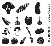 different kinds of vegetables...   Shutterstock . vector #1012772134
