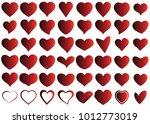 red heart vector icon... | Shutterstock .eps vector #1012773019