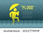 flood disaster of man icons... | Shutterstock .eps vector #1012774939