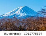 pictures of fuji volcano in... | Shutterstock . vector #1012775839