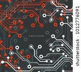 circuit board  technology...   Shutterstock .eps vector #1012776091