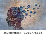 alzheimer memory loss due to... | Shutterstock . vector #1012776895