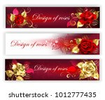 three horizontal banners with...   Shutterstock .eps vector #1012777435