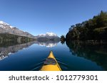 kayak crossing the lakes of the ...   Shutterstock . vector #1012779301