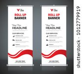 roll up banner design template  ... | Shutterstock .eps vector #1012779919