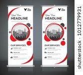 roll up banner design template  ... | Shutterstock .eps vector #1012779931