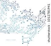 circuit board  technology...   Shutterstock .eps vector #1012781941