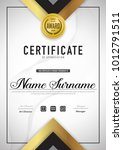certificate template luxury and ... | Shutterstock .eps vector #1012791511