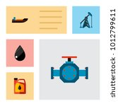 icon flat petrol set of liquid... | Shutterstock .eps vector #1012799611