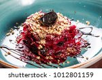 healthy salad of beets  prunes... | Shutterstock . vector #1012801159