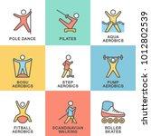 modern icons set fitness.... | Shutterstock .eps vector #1012802539