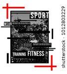 t shirt design sports athletic...   Shutterstock .eps vector #1012803229