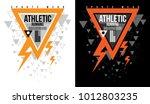 t shirt design sports athletic... | Shutterstock .eps vector #1012803235