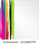 abstract acrylic hand painted... | Shutterstock .eps vector #1012803799