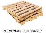 wooden pallet isolated on white ...