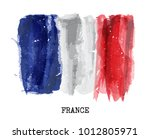 watercolor flag of france .... | Shutterstock .eps vector #1012805971