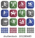 sport button set | Shutterstock .eps vector #101280685