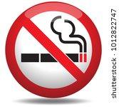 no smoking sign | Shutterstock .eps vector #1012822747
