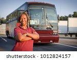 proud bus driver | Shutterstock . vector #1012824157