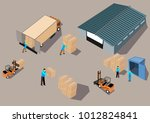 3d isometric working process... | Shutterstock .eps vector #1012824841