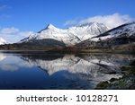 the paput of glencoe reflected... | Shutterstock . vector #10128271