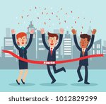 young  successful business... | Shutterstock .eps vector #1012829299