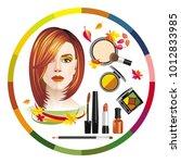 vector image of set of... | Shutterstock .eps vector #1012833985