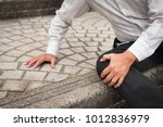 old senior man falling down ... | Shutterstock . vector #1012836979