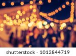 abstract blurred image of night ... | Shutterstock . vector #1012844719
