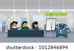 modern robot holding... | Shutterstock .eps vector #1012846894