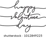 hand lettering happy valentine... | Shutterstock .eps vector #1012849225