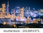 glitter lighting of fossil fuel ... | Shutterstock . vector #1012851571