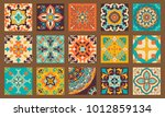 collection of 15 colorful tile... | Shutterstock .eps vector #1012859134