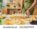 woman preparing soap base and... | Shutterstock . vector #1012859935