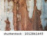 close   up of the rust on zinc... | Shutterstock . vector #1012861645