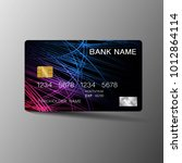 realistic detailed credit card. ... | Shutterstock .eps vector #1012864114