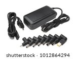 laptop charger with different... | Shutterstock . vector #1012864294