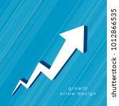 3d arrow moving upward design | Shutterstock .eps vector #1012866535