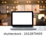 empty space desk white with on... | Shutterstock . vector #1012870405
