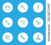handtools icons line style set...   Shutterstock . vector #1012871545