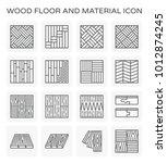 wood floor and material vector... | Shutterstock .eps vector #1012874245