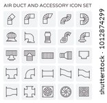 air duct and sccessory icon set. | Shutterstock .eps vector #1012874299