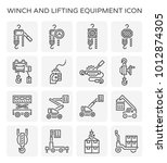 winch and lifting equipment... | Shutterstock .eps vector #1012874305