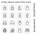 steel beam and pipe product... | Shutterstock .eps vector #1012875451