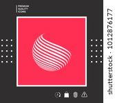 earth logo design with stripes   Shutterstock .eps vector #1012876177